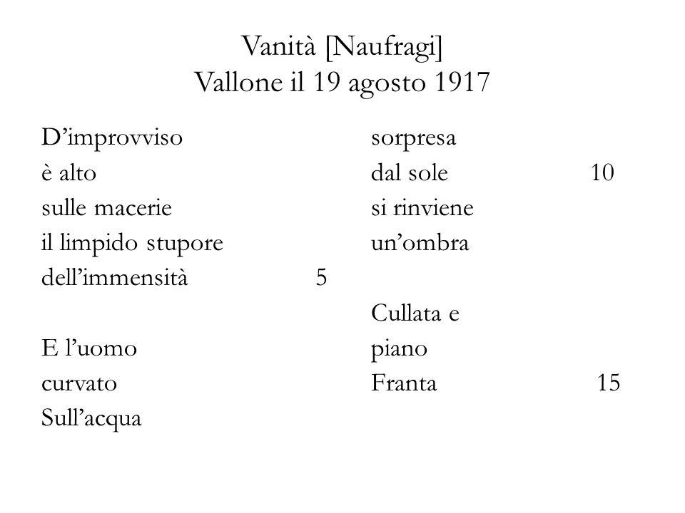 Vanità [Naufragi] Vallone il 19 agosto 1917